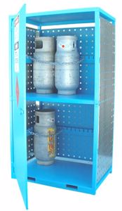 Picture of Gas Cylinder Storage cage for 12 x Type T Forklift Cylinders
