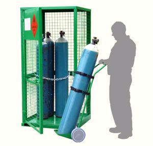 Picture of 9 Cylinder Gas Storage with bonus Gas Cylinder Trolley