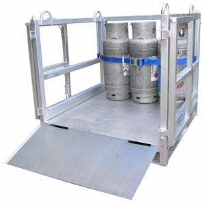 Picture of Cage for Transporting Gas Cylinders with Ramp (Assembled)